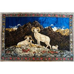 VINTAGE DALL'S SHEEP WALL TAPESTRY (74X48) MADE IN ITALY