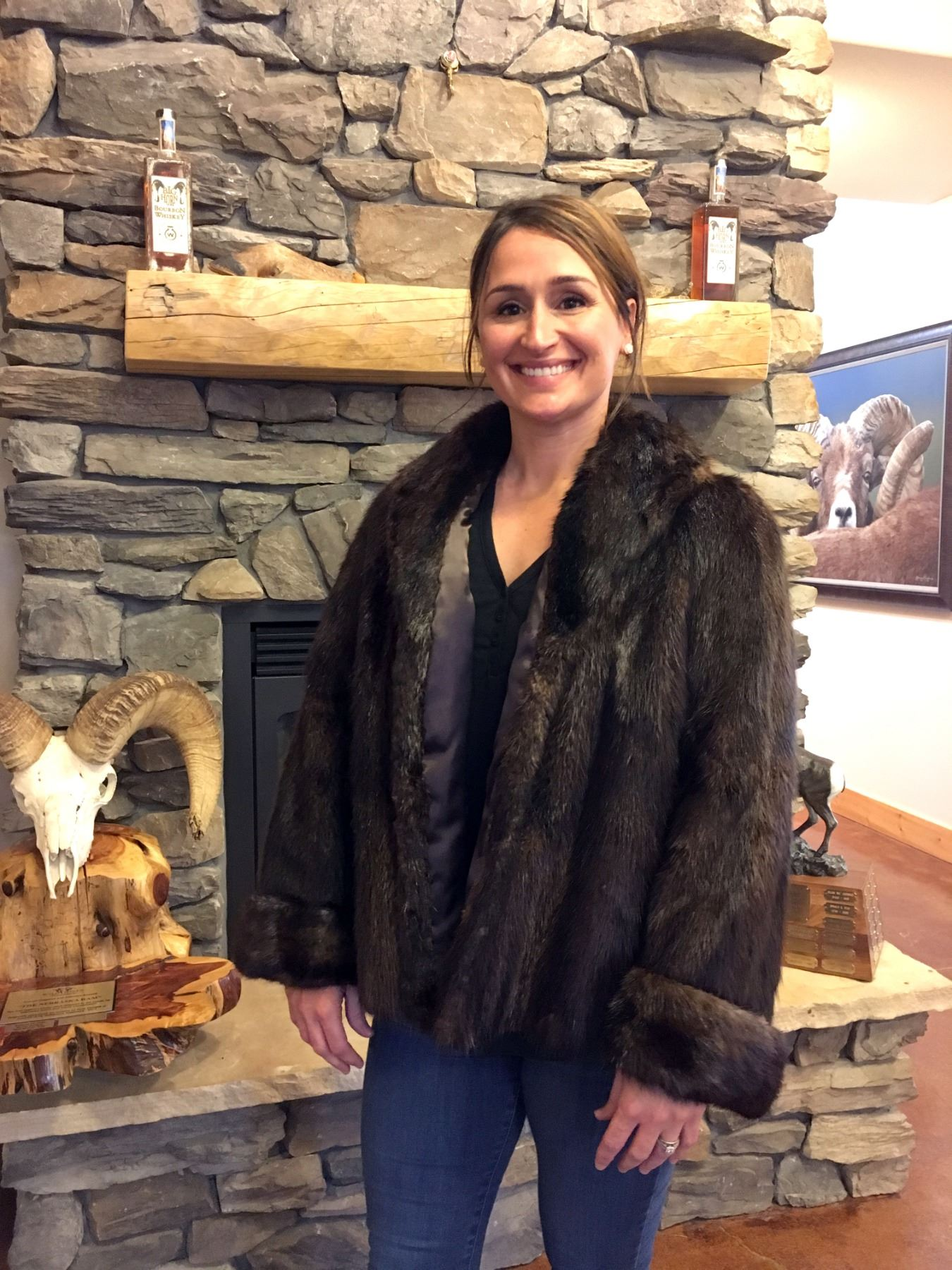 NATURAL BEAVER JACKET - SIZE 6 (NON-EXCHANGEABLE)