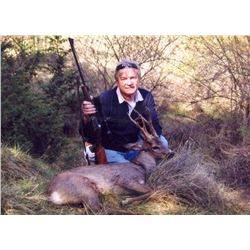 5 - Day Hunt for 2 - HUNTERS (Includes 1 roe deer per hunter) or Value ($3,000) to hunt any other Tr