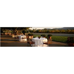 MARC MONDAVI HOSTS A DINNER FOR 8 IN BEAUTIFUL NAPA VALLEY
