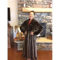 PAPARAZZI PHANTOM SHEARED BEAVER FULL LENGTH COAT - SIZE 12