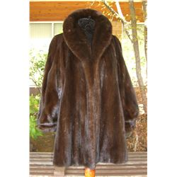 MAHOGANY W/RANCH MINK JACKET - MEDIUM