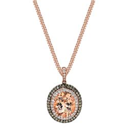 MORGANITE & DIAMOND NECKLACE SET WITH NATURAL CHOCOLATE WITH DIAMONDS