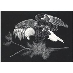 Scratchboard Wildlife Print