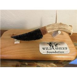 CUSTOM WSF KNIFE DISPLAY – ALDER WOOD BASE