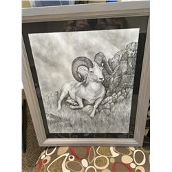 """In All His Glory"" by Jim Weaver, original pencil sketch"