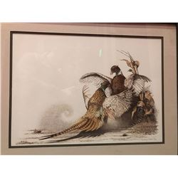 """Pheasants"" print by Sherry Steele"