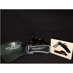 Pilla SP 4 Shooting Glasses, WSF Hat and Browning Knife/Lite Set