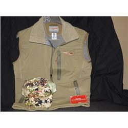 Sitka Jetsream Vest (Small) and Ascent Cap