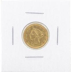 1851 $2 1-2 Liberty Gold Coin VF