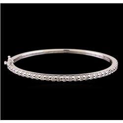 14KT White Gold 2.68 ctw Diamond Bangle Bracelet