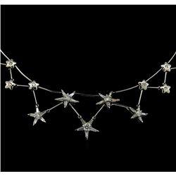 3.00 ctw Diamond Necklace - 18KT White Gold