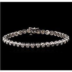 14KT White Gold 2.45 ctw Diamond Tennis Bracelet