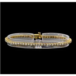 14KT Yellow Gold 1.89 ctw Diamond Tennis Bracelet