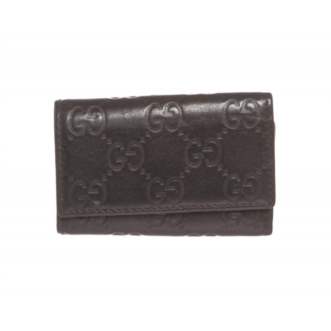 523924c8f85 Image 1   Gucci Black Guccissima Leather Key Holder ...