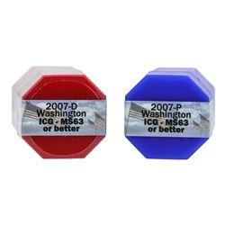 Rolls of 2007-D & 2007-P $1 George Washington Presidential Coins ICG MS63 or Bet