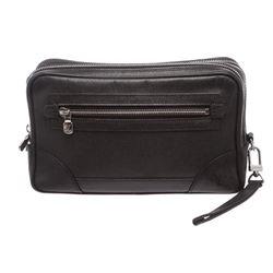 Louis Vuitton Black Taiga Leather Neo Pavel Bag