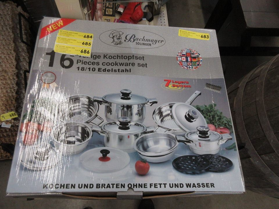 New Bachmeyer Solingen 16 Piece Cookware Set