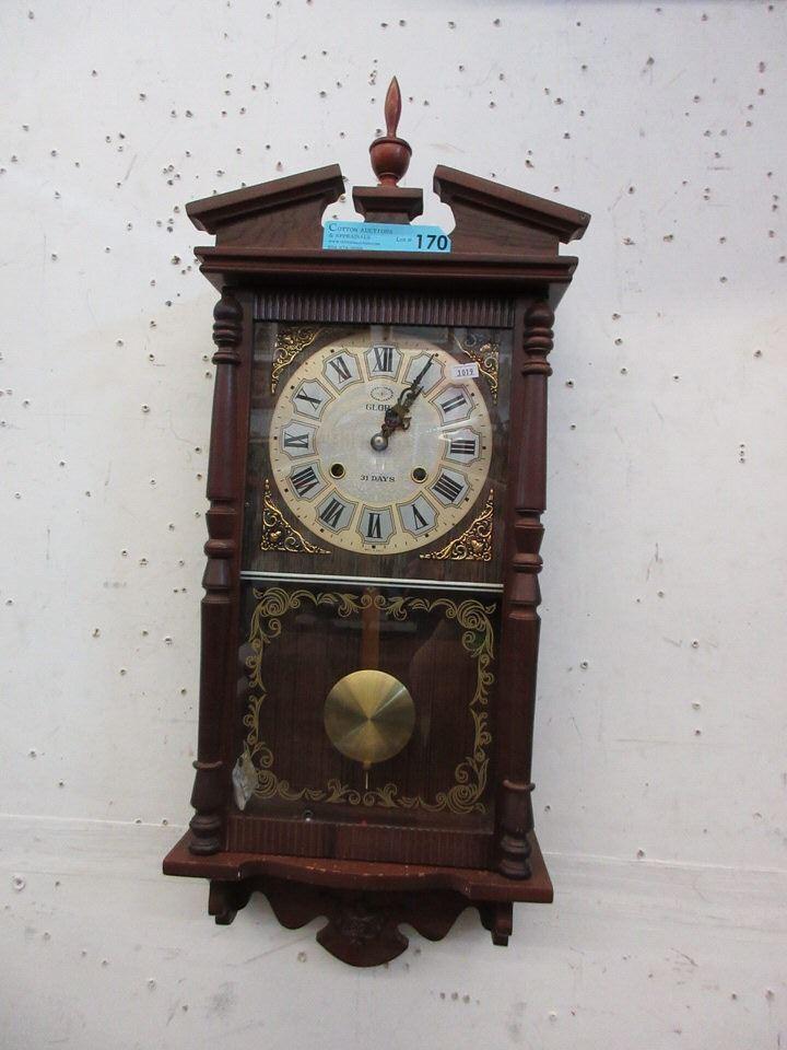 a26313cc2cba Image 1 : Glory 31-Day Pendulum Wall Clock with Key
