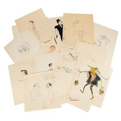 Collection of 27 Disney Studio Animator Gag Drawings.