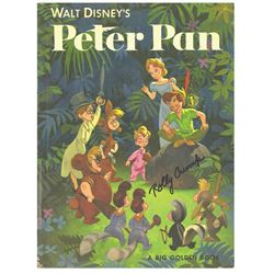 Signed  Peter Pan  Big Golden Book.