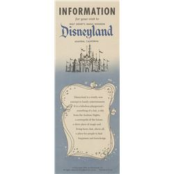 1955 Disneyland Main Gate Flyer.