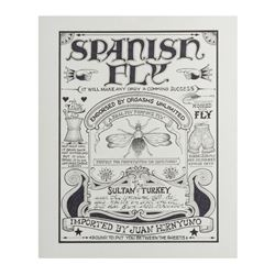 """Spanish Fly"" Doper Poster Artwork."