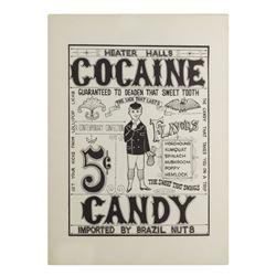 """Heater Halls Cocaine"" Doper Poster Vintage Print."