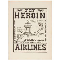 """""""Heroin"""" Doper Poster Vintage Print."""