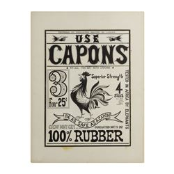 """Capons"" Condom Design Artwork."