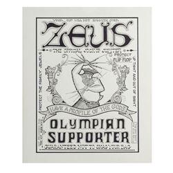 """Zeus Jockstraps"" Poster Artwork."