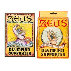 """Zeus - Olympian Supporter"" Artwork & Prototype Box."