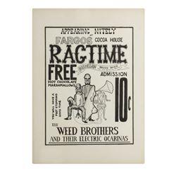 """""""Fargo's Cocoa House Ragtime"""" Poster Artwork."""