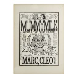 """Mummy Milk"" Poster Artwork."