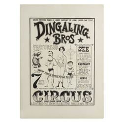 """Dingaling Bros Circus"" Poster Artwork."