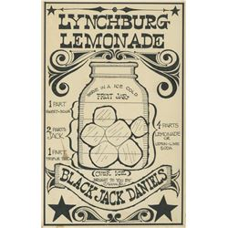 """Lynchburg Lemonade"" Original Recipe Art."