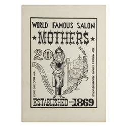 """Mothers Salon"" Poster Artwork."