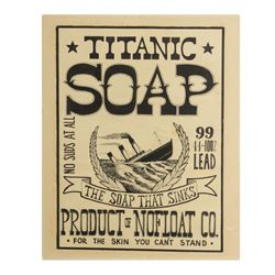 """Titanic Soap"" Poster Artwork."