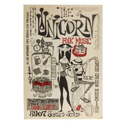 """The Unicorn"" Vintage Beatnik Poster."