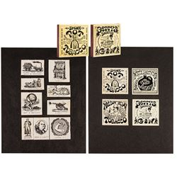 Set of 13 Rolly Crump Matchbook Covers & Prototype.
