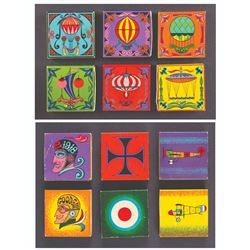 Set of 12 Matchbox Designs by Rolly Crump.