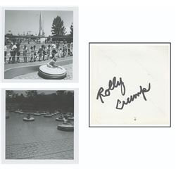 "Signed Pair of ""Flying Saucer"" Attraction Photos."