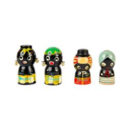 Set of 4 Salt & Pepper Shakers from Adventureland.
