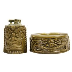 Tiki Lighter & Ashtray.