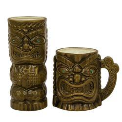 Jewel-Eyed Tiki Tumbler & Mug.