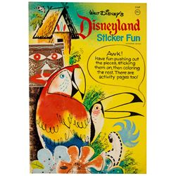 """Disneyland Sticker Fun"" Activity Book."