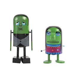 "Pair of ""Frankenstein Monster"" Push-Down Toys."