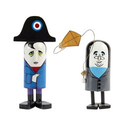 "Pair of ""Historical Figures"" Push-Down Toys."