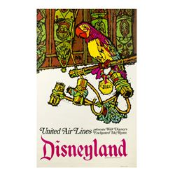 "United Air Lines ""Enchanted Tiki Room"" Travel Poster."