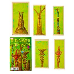 "Set of 5 Jody Daily ""Enchanted Tiki Room"" Paintings."